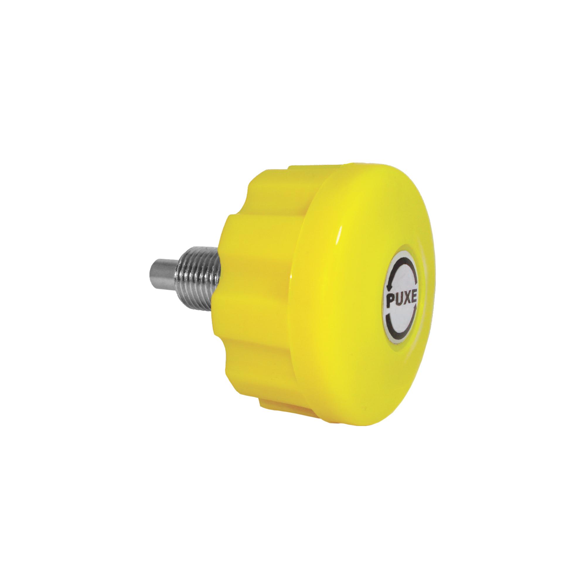 Puxador com Trava PTT com Mola - Amarelo sem Porca