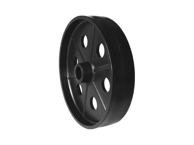 "Roda 7½"" - 190 mm c/ Furo 7/8"" PP Preta  - Emar - Loja Virtual"