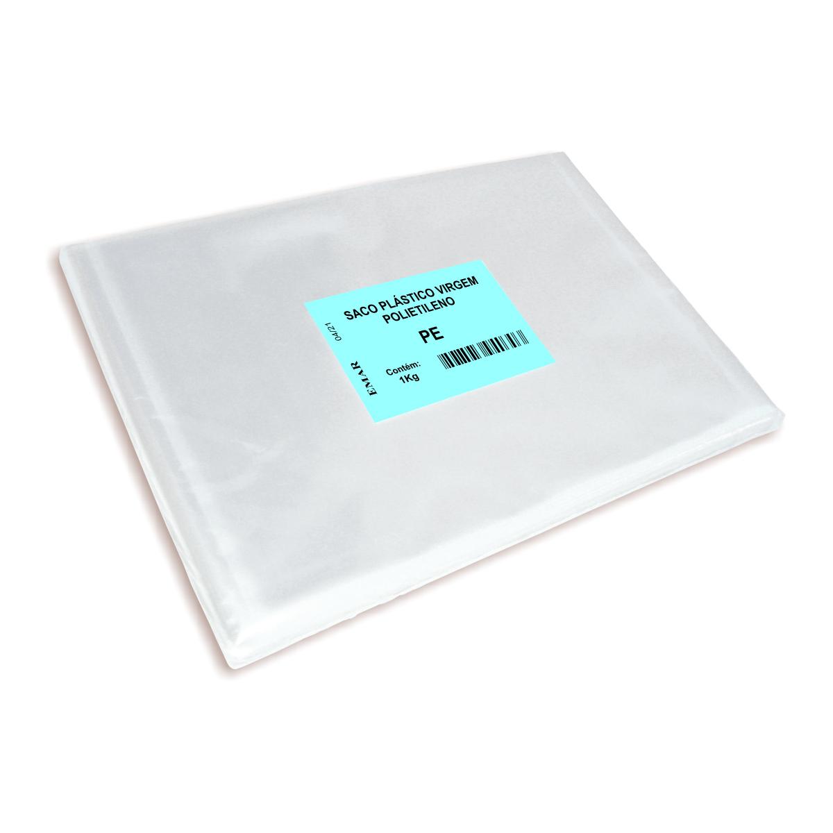 Sacos em Polietileno Transparente com 1 kg