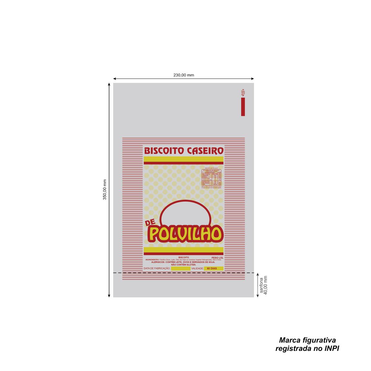 Sacos para Biscoito Caseiro Vermelho com 100 unidades
