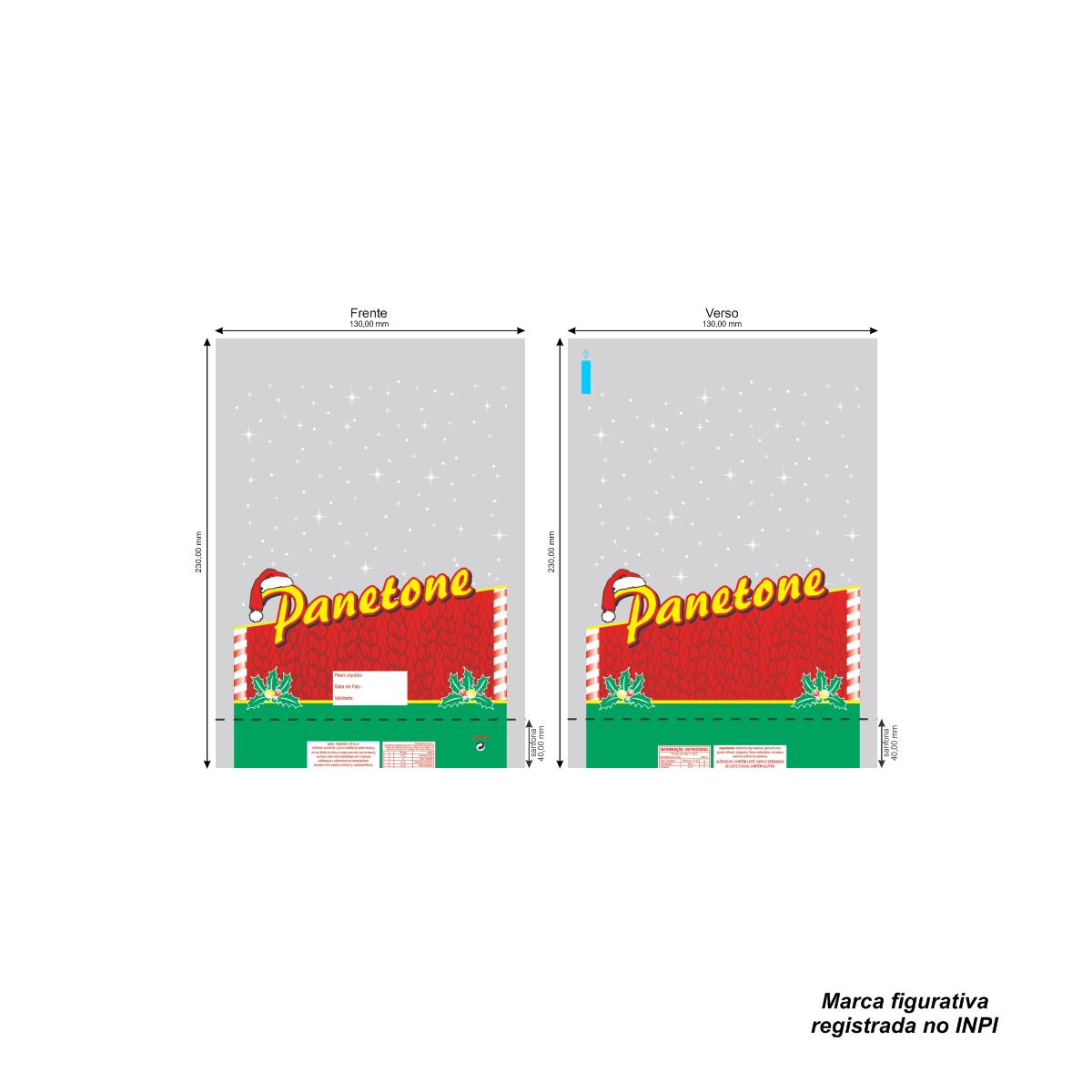 Sacos para Panetone Vermelho com 100 unidades