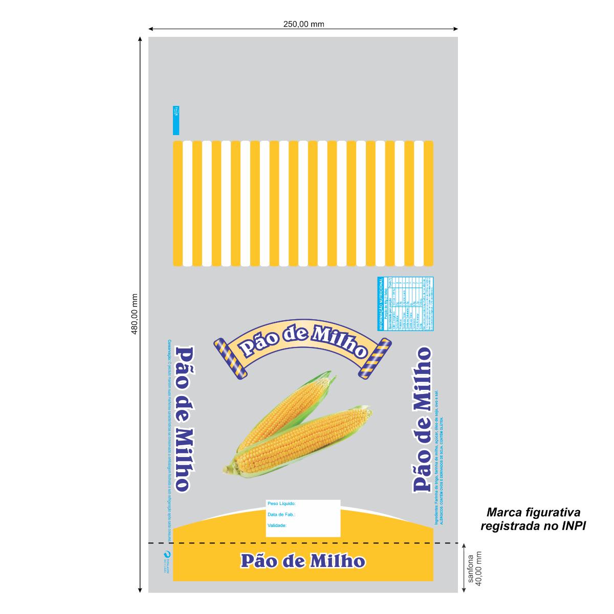 Sacos para Pão de Milho com Foto com 100 unidades