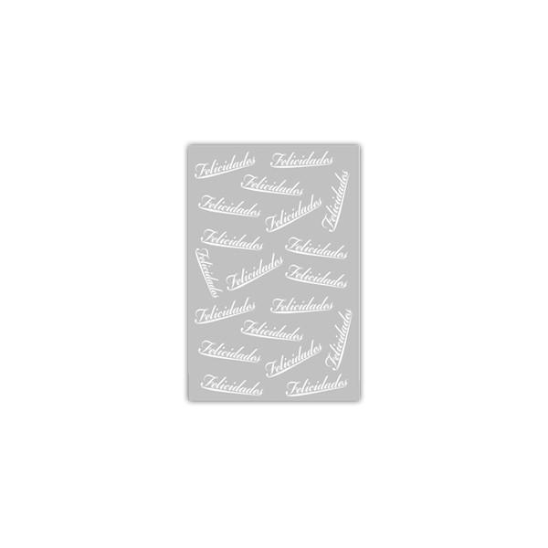 Sacos para Presente Metalizado - Felicidades Branco com 1.000 unidades