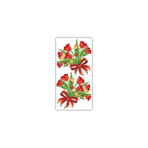 Sacos para Presente - Rosa Vermelha com 1.000 unidades