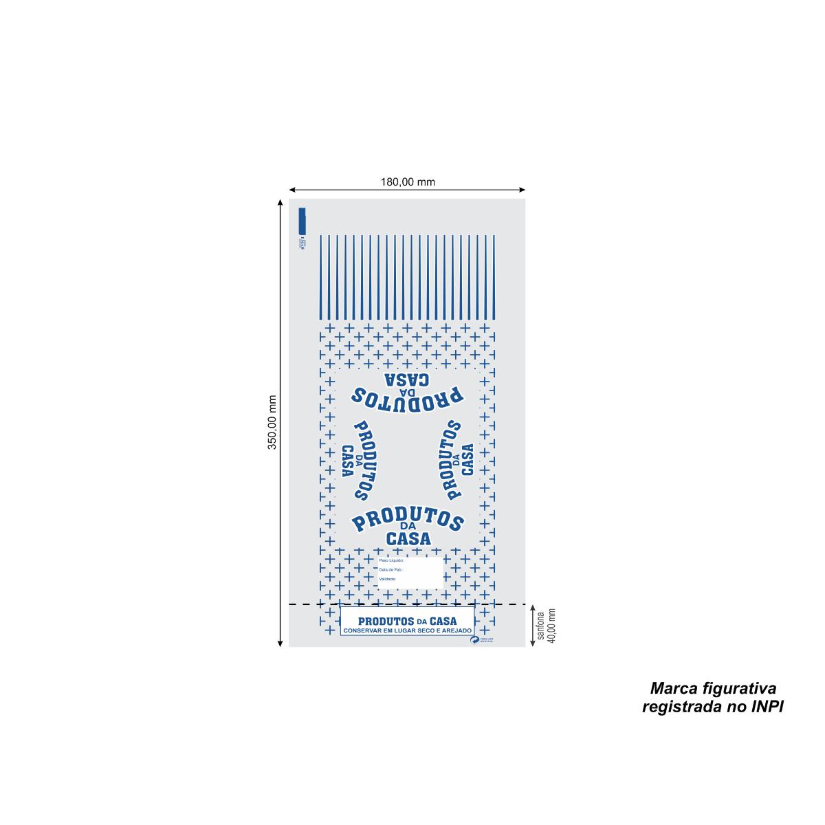Sacos para Produto da Casa Azul com 100 unidades