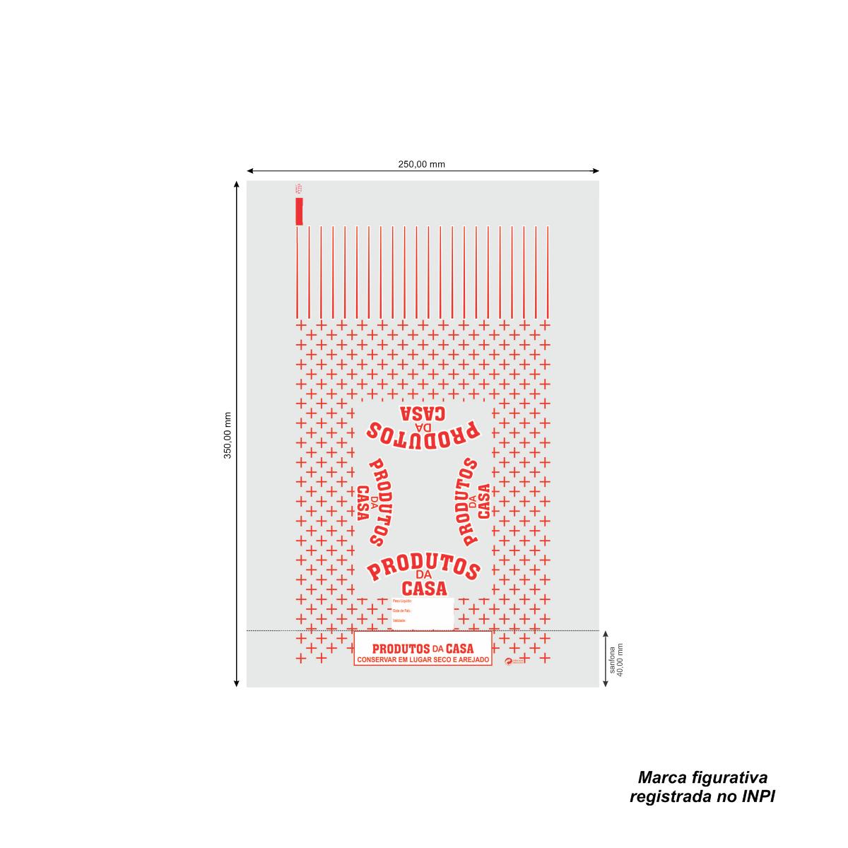 Sacos para Produto da Casa Vermelho com 100 unidades