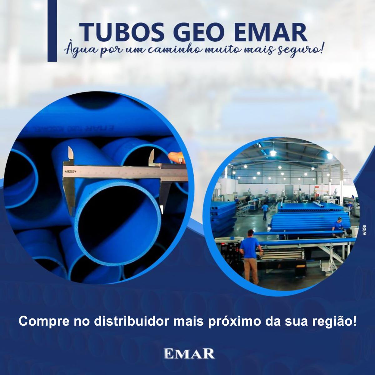 """Tubo Revestimento Geo Emar para Poços 6.1/2"""""""