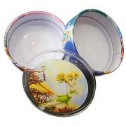 Caixa de Lata de Metal com Divisória Tinker Bell Fadas Disney