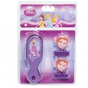 Kit de Beleza com Escova e Chuquinhas Princesas Disney