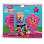 Kit de Beleza com Espelho Pente e Chuquinhas Minnie Disney