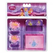 Kit de Beleza com Espelho Pente e Maria Chiquinhas das Princesas Disney