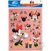Cartela com 22 Adesivos de Plástico Alto Relevo Minnie Disney
