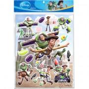 Cartela com 19 Adesivos de Plástico Alto Relevo Toy Story Disney