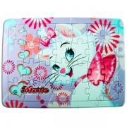 Quebra Cabeça Cartonado de 28 Peças Marie Disney