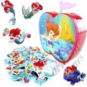 100 Mini Adesivos + Porta Adesivos Sereia Ariel Princesas Disney