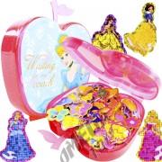 100 Mini Adesivos + Porta Adesivos Cinderela Princesas Disney