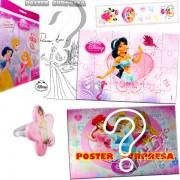 Sacolinha Divertida com Anel Jasmine Princesas Disney