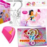 Sacolinha Divertida com Pente Jasmine Princesas Disney