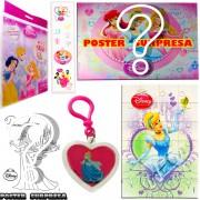Sacolinha Divertida com Chaveiro Cinderela Princesas Disney