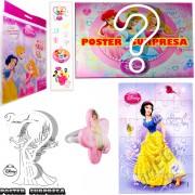 Sacolinha Divertida com Anel Branca de Neve Princesas Disney