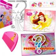 Sacolinha Divertida com Pente Bela Princesas Disney