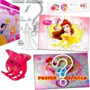 Sacolinha Divertida com Piranha de Cabelo Bela Princesas Disney