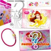 Sacolinha Divertida  Bela com Elástico de Cabelo Princesas Disney