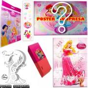 Sacolinha Divertida com Borracha Aurora Princesas Disney