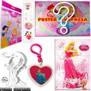 Sacolinha Divertida  Aurora com Chaveiro Princesas Disney