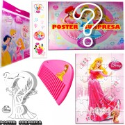 Sacolinha Divertida com Pente Aurora Princesas Disney