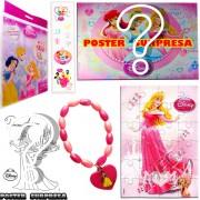 Sacolinha Divertida com Pulseira Aurora Princesas Disney