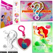 Sacolinha Divertida com Chaveiro Sereia Ariel Princesas Disney