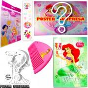 Sacolinha Divertida com Pente Sereia Ariel Princesas Disney