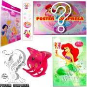 Sacolinha Divertida  Sereia Ariel com Piranha de Cabelo Princesas Disney