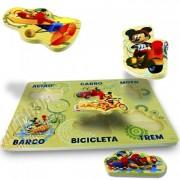 Brinquedo de Madeira Encaixe Mickey Disney