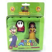 Coleção Caixa de Lata com Miniaturas Daisy e Shy Guy Super Mario
