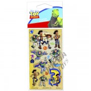 Kit Com 10 Cartelas de Adesivos Toy Story Disney