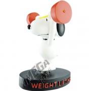 Mini Enfeite de Resina Snoopy Levantamento de Peso