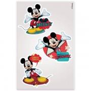 Kit Com 10 Cartelas de Adesivos de Parede Noturno Mickey Disney - Gedex