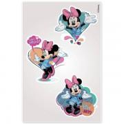 Cartela com Adesivos de Parede Noturno Minnie Disney - Gedex