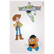 Kit Com 10 Cartelas de Adesivos de Parede Noturno Toy Story Disney - Gedex