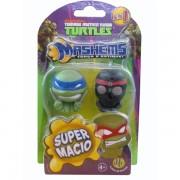 Coleção Com 2 Miniaturas Tartarugas Ninja Mashems - Dtc