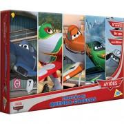 Coleção com 5 Quebra Cabeças Aviões Disney - Toyster