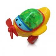 Mini Avião Amarelo com Luz - DM Toys