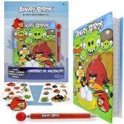 Angry Birds Caderno de Anotações Lapiseira e Adesivos Importados