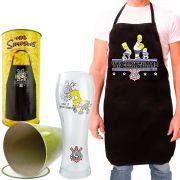 Avental e Copo Homer Simpsons Corinthians Edição Especial