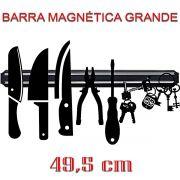 Barra Magnética Grande 49,5 cm Facas Cozinha Churrasqueira Ferramentas