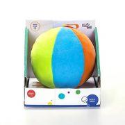 Bola De Pelúcia Colorida Com Chocalho Infantil Unik Toys