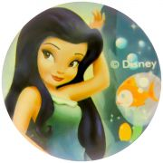 Bolinha de Silicone Importada Tinker Bell Fada Silvermist Disney