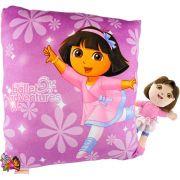 Boneca De Pelúcia Com Almofada Infantil Dora Bailarina